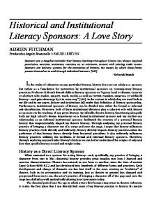 Historical and Institutional Literacy Sponsors: A Love Story