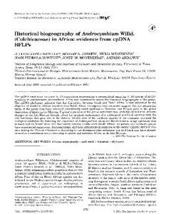 Historical biogeography of Androcymbium Willd. - Gran Canaria
