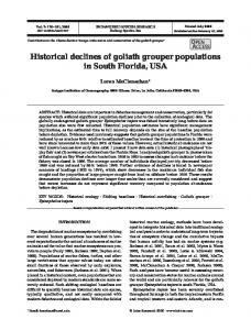 Historical declines of goliath grouper populations in South Florida, USA