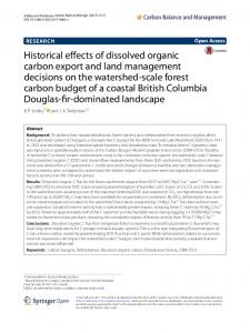 Historical effects of dissolved organic carbon export and land ...