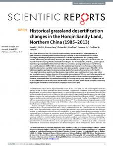 Historical grassland desertification changes in the