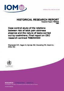 historical research report