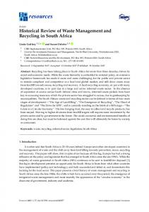 Historical Review of Waste Management and Recycling in ... - MDPI