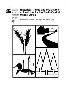 Historical Trends and Projections of Land Use for ... - Semantic Scholar