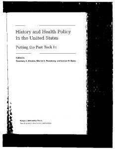 History and Health Policy in the United States