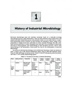 History of Industrial Microbiology - New Age International
