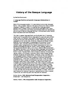 History of the Basque Language
