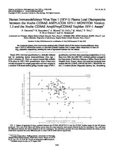 HIV-1 - Journal of Clinical Microbiology - American Society for ...