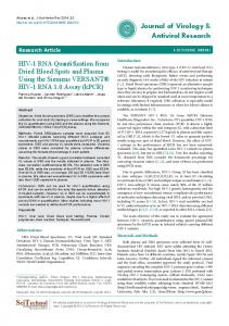 HIV-1 RNA Quantification from Dried Blood Spots and Plasma Using ...