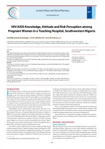 HIV/AIDS Knowledge, Attitude and Risk Perception among Pregnant ...