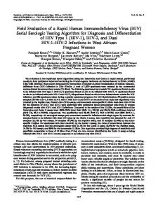 HIV - Journal of Clinical Microbiology - American Society for ...
