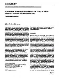HIV-Related Neurocognitive Disorders and Drugs of ... - Springer Link