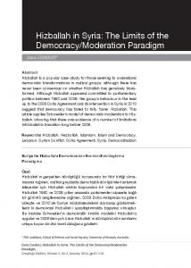 Hizballah in Syria: The Limits of the Democracy/Moderation ... - Orsam