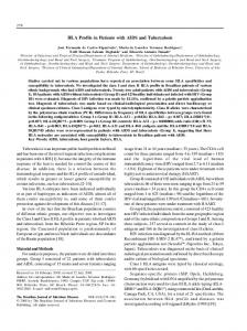 HLA Profile in Patients with AIDS and Tuberculosis - Semantic Scholar