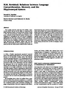 HM Revisited: Relations between Language Comprehension, Memory ...