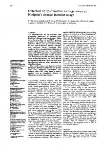Hodgkin's disease: Relation to age - Europe PMC
