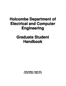 Holcombe Department of Electrical and Computer Engineering ...