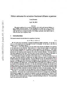 Holder estimates for advection fractional-diffusion equations