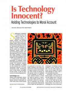 Holding Technologies to Moral Account - IEEE Xplore