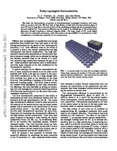 Holey topological thermoelectrics