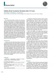 Holiday Heart Syndrome Revisited after 34 Years