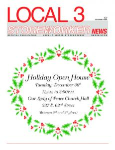 Holiday Open House pen House - Local 3 United Storeworkers ...