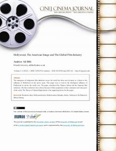 Hollywood, The American Image and The Global Film Industry Andrew
