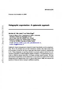 Holographic anyonization: A systematic approach