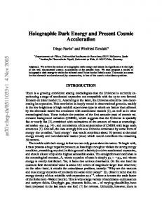 Holographic Dark Energy and Present Cosmic Acceleration