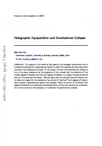 Holographic Equipartition and Gravitational Collapse