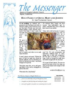HOLY FAMILY OF JESUS, MARY AND JOSEPH - Queen of Angels ...