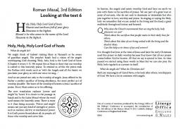 Holy, Holy - Roman Missal