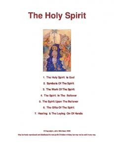 Holy Spirit Bible Studies - Online Christian Library