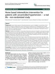 Home based telemedicine intervention for patients ... - BioMedSearch
