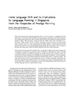 Home Language Shift and Its Implications for Language Planning in ...