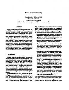 Home Network Security - Semantic Scholar