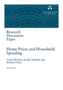Home Prices and Household Spending - Reserve Bank of Australia