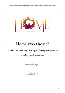 Home sweet home? Work, life and well-being of