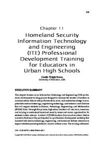 Homeland Security Information Technology and ...