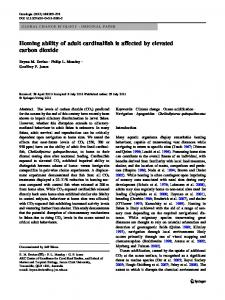 Homing ability of adult cardinalfish is affected by ... - Springer Link