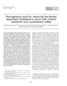 Homogeneous assay for measuring low-density ... - CiteSeerX