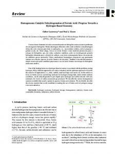 Homogeneous Catalytic Dehydrogenation of Formic Acid: Progress
