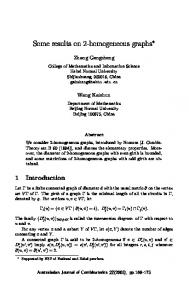 homogeneous graphs - The Australasian Journal of Combinatorics