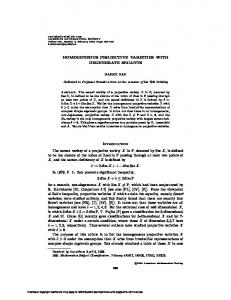 HOMOGENEOUS PROJECTIVE VARIETIES WITH DEGENERATE ...