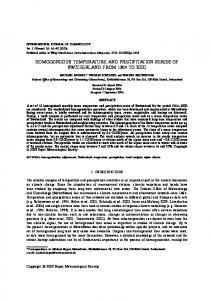 Homogeneous temperature and precipitation ... - Wiley Online Library