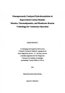 Homogeneously Catalyzed Hydroformylation in ...