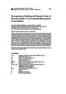 Homogenization Modeling and Parametric Study of ... - CiteSeerX
