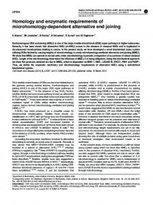 Homology and enzymatic requirements of ... - Semantic Scholar