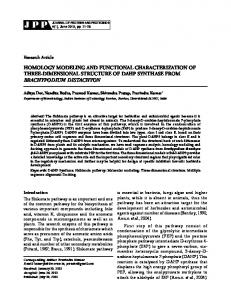 homology modeling and functional characterization of three ...