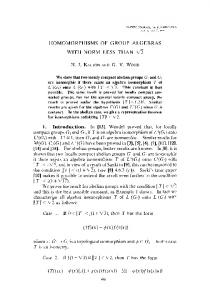 HOMOMORPHISMS OF GROUP ALGEBRAS WITH NORM LESS ...